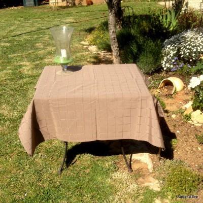 Isis taupe Nappe de table sur mesure 240x240cm 763719