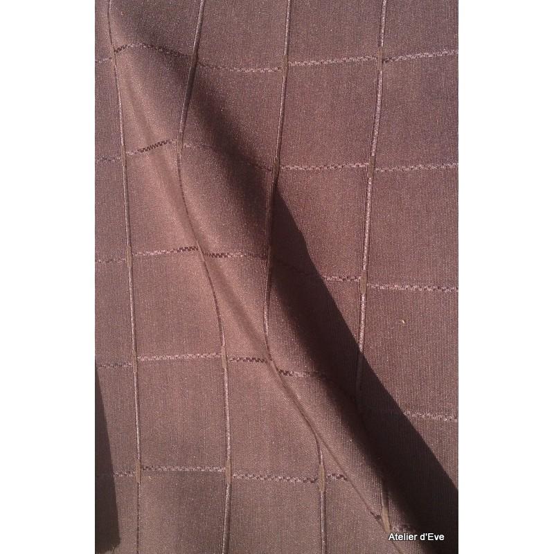 Isis chocolat nappe de table sur mesure 180x250cm 763715 - Nappe de table rectangulaire sur mesure ...