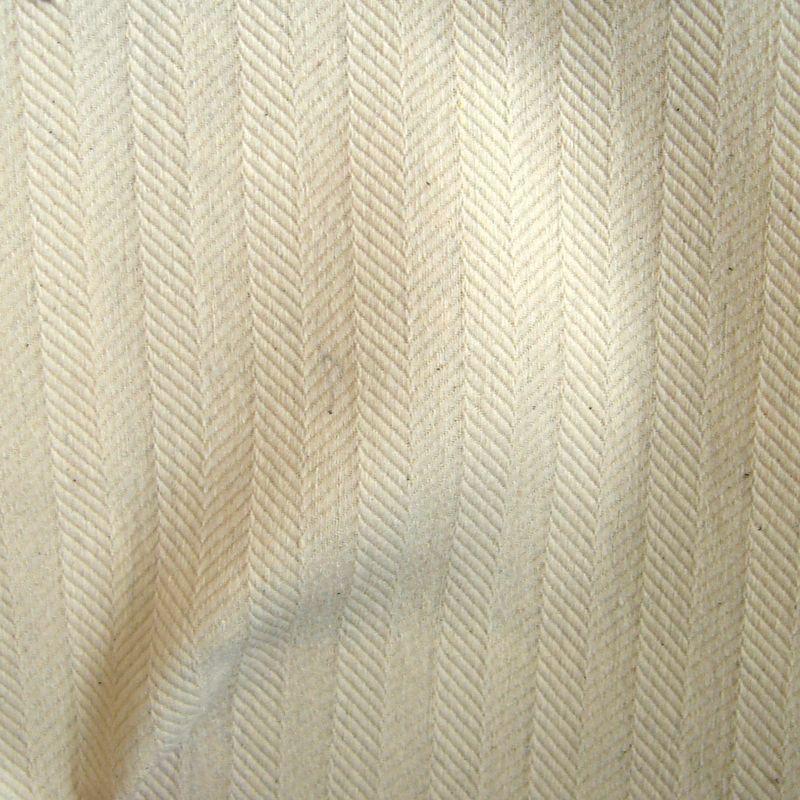 Cosmos écru Rouleau tissu ameublement jacquard uni en grande largeur