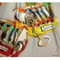 Les Sardines Rideau à oeillets poissons thème marin Thevenon Le rideau