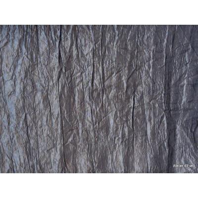 Taffetas Tissu ameublement effet froisse pas cher gris souris L.160cm par Alex tissu A178.19 le metre