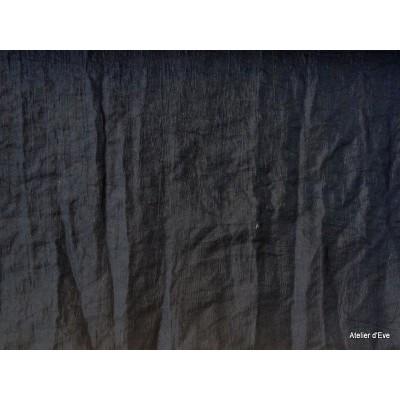 Taffetas Tissu ameublement effet froisse pas cher noir L.160cm par Alex tissu A178.20 le metre