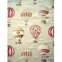 En l air Rideau a oeillets pret a poser percale coton fond creme 1641601 le rideau