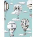 En l air Rideau a oeillets pret a poser percale coton fond bleu ciel 1641602 le rideau