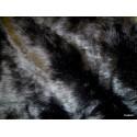 Plaid fake fur mink black 140x180cm Thévenon