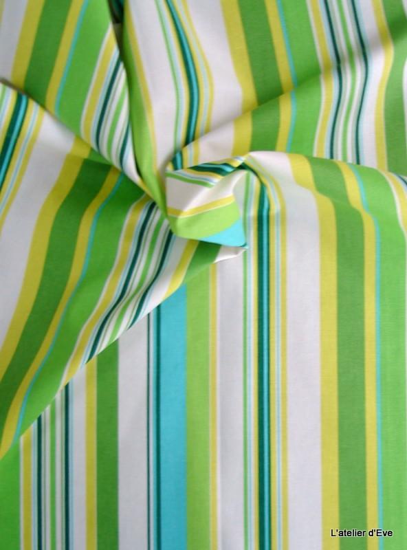 manon 13 coloris tissu ameublement coton rayures celadon vert thevenon 1421632 le metre. Black Bedroom Furniture Sets. Home Design Ideas