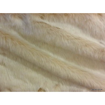 Plaid fake fur mink white 140x180cm Thévenon