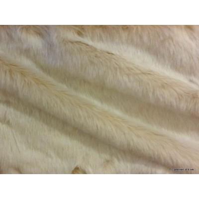 Plaid fausse fourrure vison blanc 140x180cm Thevenon 1336-02