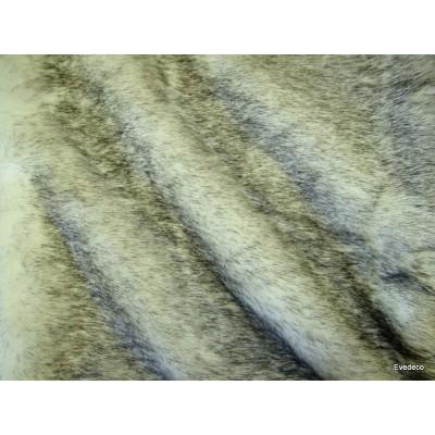 Plaid fake fur mink smoke 140x180cm Thévenon