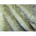 Plaid fausse fourrure vison fumée 140x180cm Thevenon