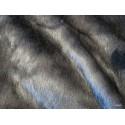 Plaid fausse fourrure vison anthracite 140x180cm Thevenon