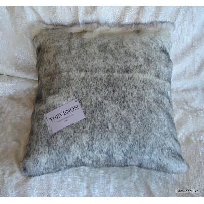 Cushion cover faux fur smoked vison 45x45cm Thevenon 1338-05