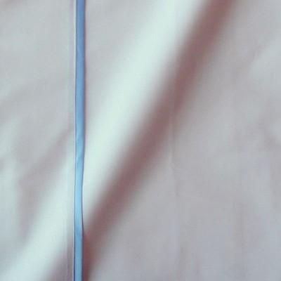 Taie de traversin percale coton blanc finition biais satin bleu 45x220cm CF1242.bleu Thevenon