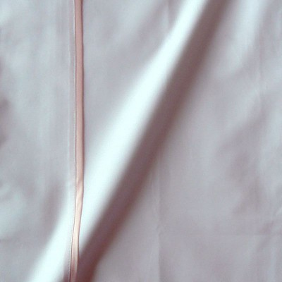 Taie de traversin percale coton blanc finition biais satin rose 45x220cm CF1242.rose Thevenon