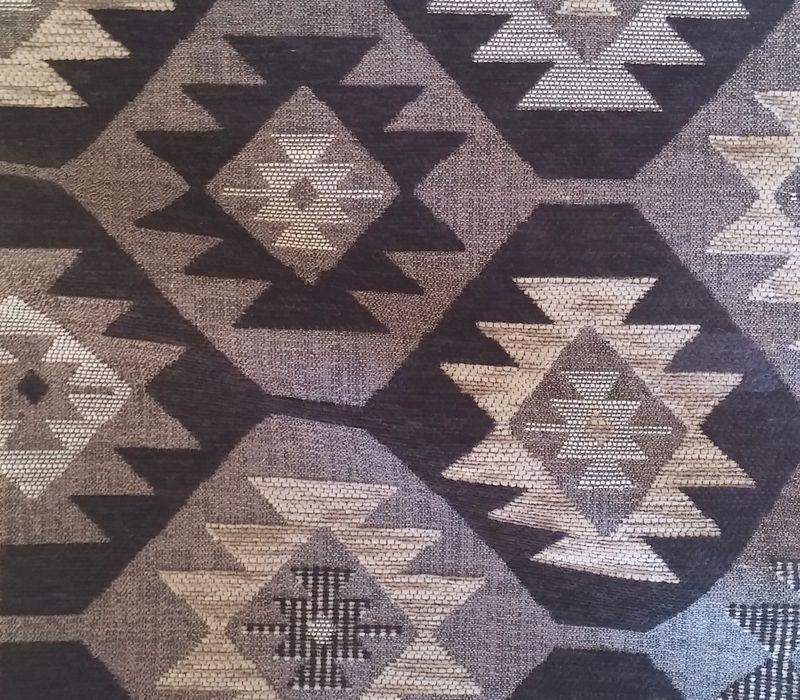 yukatan tissu ameublement velours kilim noir alex. Black Bedroom Furniture Sets. Home Design Ideas