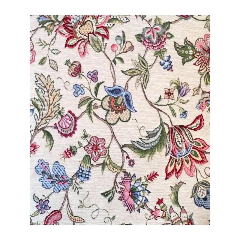 tapisserie tissu ameublement jacquard fleuri orchidees alex tissus le metre. Black Bedroom Furniture Sets. Home Design Ideas