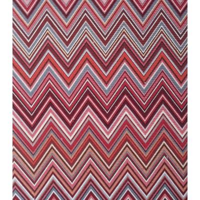 Tapisserie 2 coloris Tissu ameublement jacquard chevrons hongrois rouge L.280cm Alex Tissus A612.05 le metre