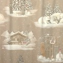 White as snow fabric cotton furnishings wide ground chalet Thévenon