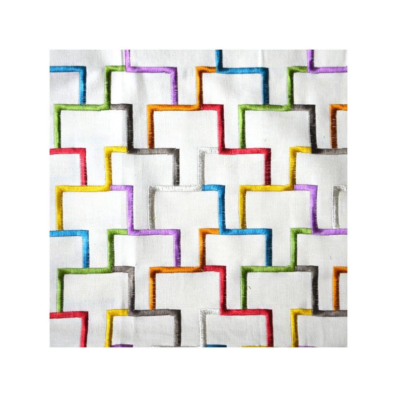 """Tetris"" canvas embroidered furniture Thévenon"