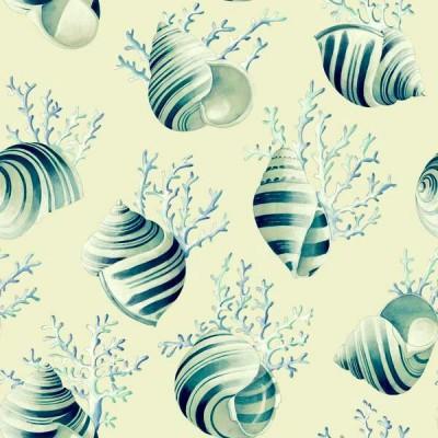 Ok corail 2 coloris Tissu enduit coloris lagon fond creme L.170cm Thevenon 1689601LOP 0215 le metre