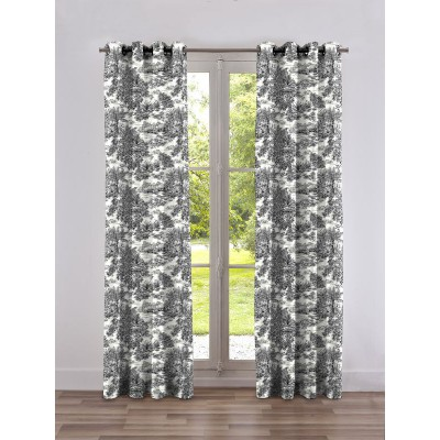 Eden Rideau with eyelets Made in France background cream Thévenon the curtain