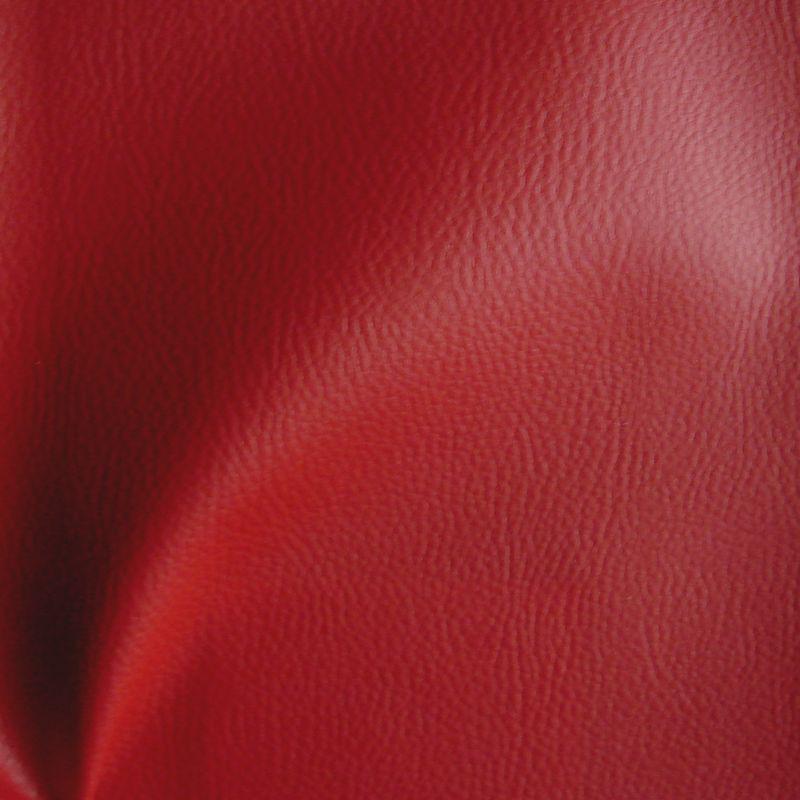Dallas rouge rideau uni à oeillets skaÏ aspect cuir souple Thevenon