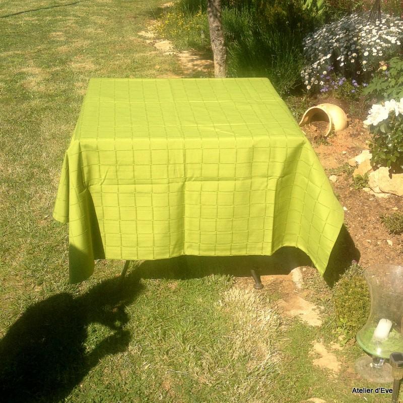 Isis anis nappe de table sur mesure 160x220cm 763724 - Nappe de table rectangulaire sur mesure ...