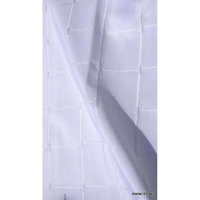 Isis blanc nappe de table sur mesure 160x260cm 763721 - Nappe de table rectangulaire sur mesure ...