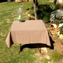 Isis taupe Nappe de table sur mesure 160x160cm 763719