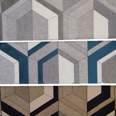 Double Vue (3 coloris) Tissu ameublement jacquard graphique L.140cm Thevenon
