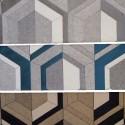 Double Vue (3 coloris) Rouleau tissu ameublement jacquard graphique Thevenon Pièce ou demi-pièce