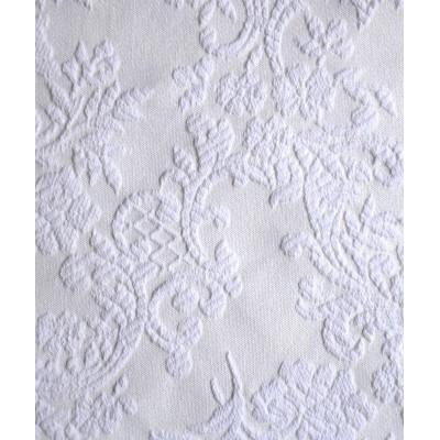 Madame Tissu ameublement jacquard brodée blanc grande largeur Thevenon