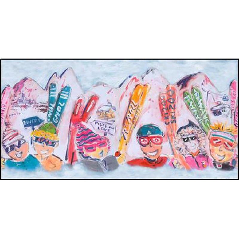 Piste and Love - Tableau 74x130cm de Patrick Plattier pour Thevenon