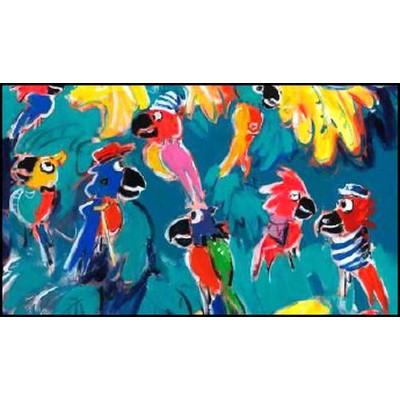 Tropik Art Tableau 93x130cm fond emeraude Thevenon
