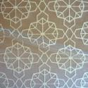 Origami Tissu ameublement jacquard L.137cm fond ficelle Thevenon