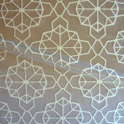 Origami Rouleau tissu ameublement jacquard L.137cm fond ficelle Thevenon La piece ou demi piece