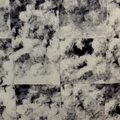 No sun Rouleau tissu ameublement coton L.140cm nuages noir Thevenon La piece ou demi piece
