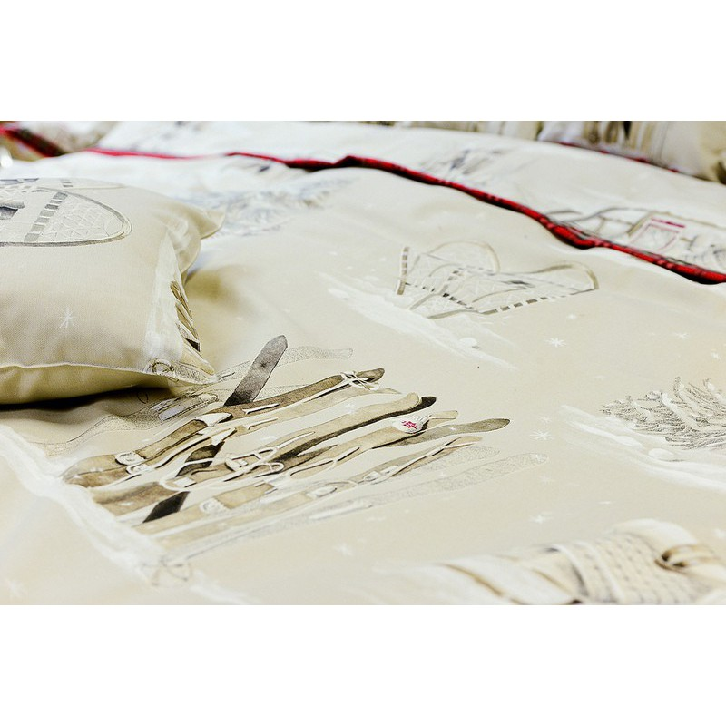 Cottage of stone discount 30% roll fabric cotton furnishing Thévenon