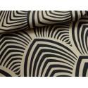 Edo Tissu ameublement jacquard reversible L.140cm noir fond ficelle Thevenon 1677713 le metre