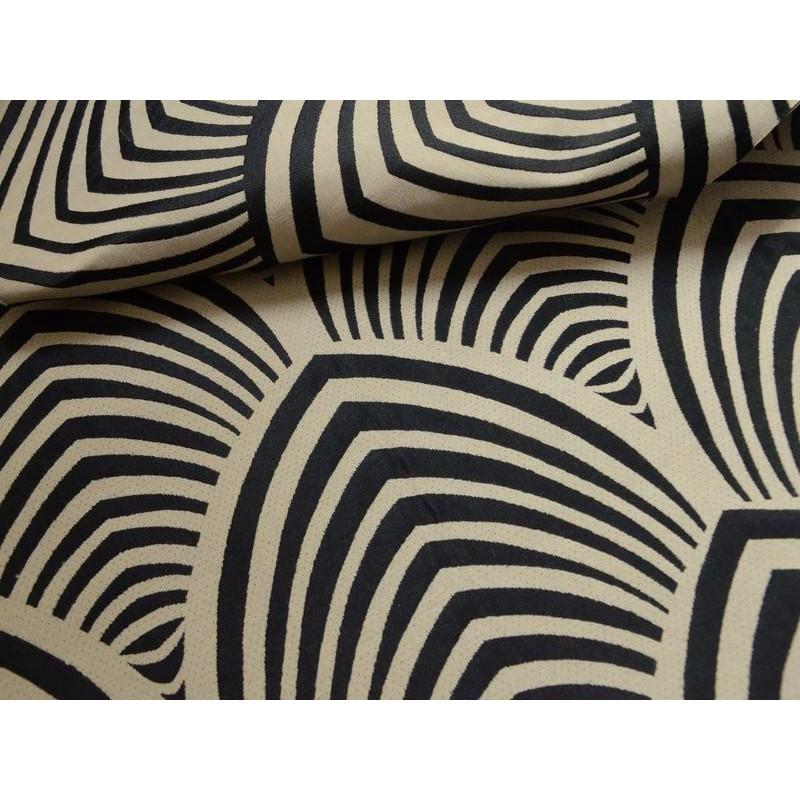 Edo fabric upholstery jacquard reversible seat L.140cm black bottom string Tavana 1677713 meter
