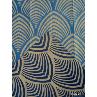Edo roller fabric upholstery jacquard reversible blue bottom string Tavana 1677712 exhibit