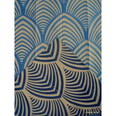 Edo roller fabric upholstery jacquard reversible blue bottom string Tavana 1677712 exhibit