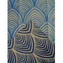 Edo Rouleau tissu ameublement jacquard reversible bleu fond ficelle Thevenon 1677712 La piece