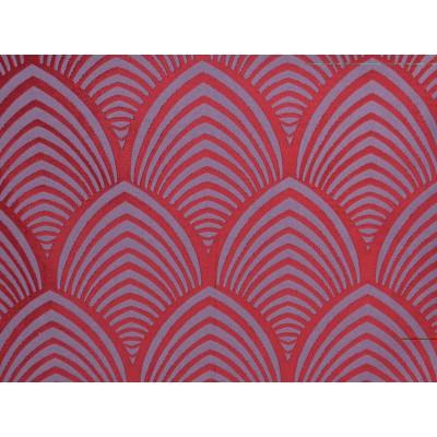 Edo Rouleau tissu ameublement jacquard reversible bordeaux Thevenon 1677714 La demi piece