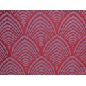 Edo roller fabric upholstery jacquard Burgundy reversible Tavana 1677714 the half piece