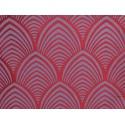 Edo Rouleau tissu ameublement jacquard reversible bordeaux Thevenon 1677714 La piece