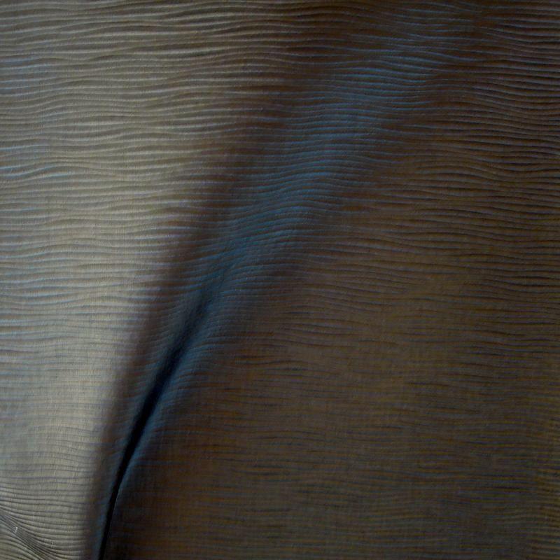 Vibration Tissu ameublement aspect cuir L.140cm cendre Thevenon 1513913 le metre