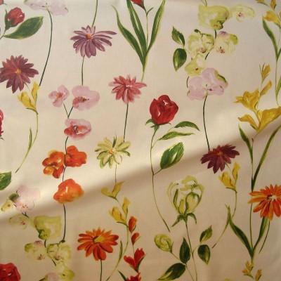 Quintessence (2 coloris) Tissu ameublement coton grande largeur fleuri pour siège Thevenon