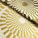 Canopee Rideau a oeillets pret a poser jacquard reversible dore/creme 1680713 le rideau