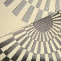 Canopee Rouleau tissu ameublement jacquard reversible L.140cm gris fond creme 1680711 La demi piece